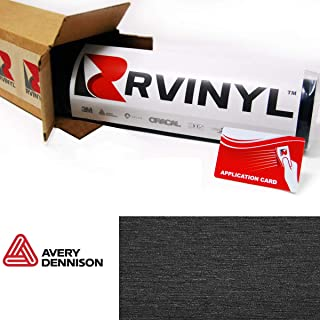 Avery SW900 193-X Brushed Black Supreme Wrapping Film Vinyl Vehicle Car Wrap Sheet Roll - (12