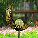 Amwgimi Moon Garden Waterproof Solar Light