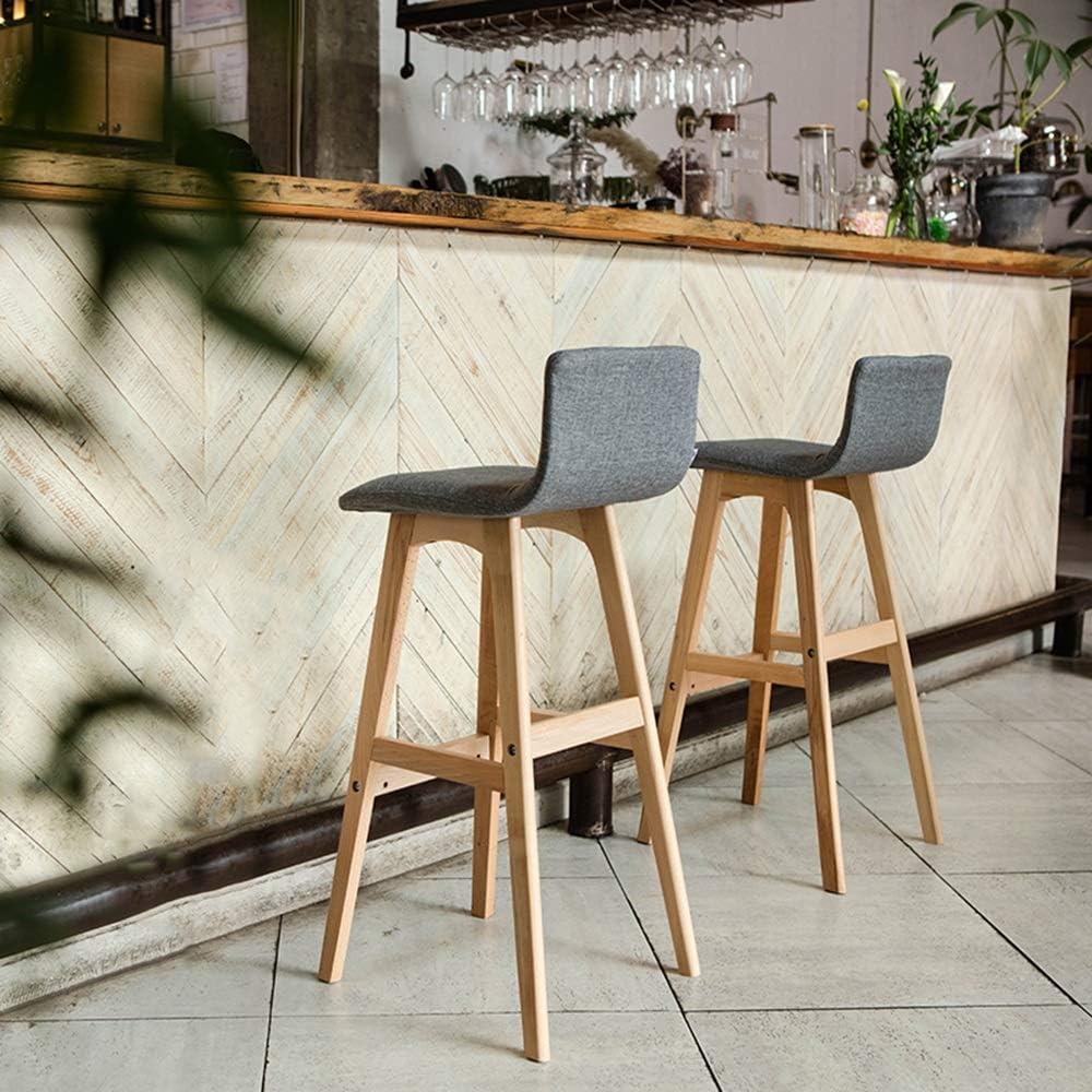 Tabouret de bar, Living Back Tabouret de bar en bois massif Tabouret de bar Tabouret de bar Tabouret de bar Simple Home High Chair Front Desk Chair chair (Couleur : I) B