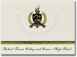 Signature Ankündigungen Robert Turner College und Karriere High School (PEARLAND (, TX) Graduation Ankündigungen, Presidential Elite Pack 25 W Gold & Schwarz Folie Dichtung B078VFJBQD  Moderate Kosten