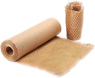 """METRONIC Packaging Paper 12""""x128` Honeycomb Cushioning Wrap Perforated-Packing,1 Rolls 128 Ft Honeycomb Wrap Roll with 20 ..."""