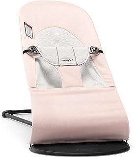 BABYBJÖRN Bouncer Balance Soft, Cotton/Jersey, Light Pink/Gray
