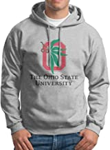 Ohio State University OSU Men Long Sleeve Ash Hoodies