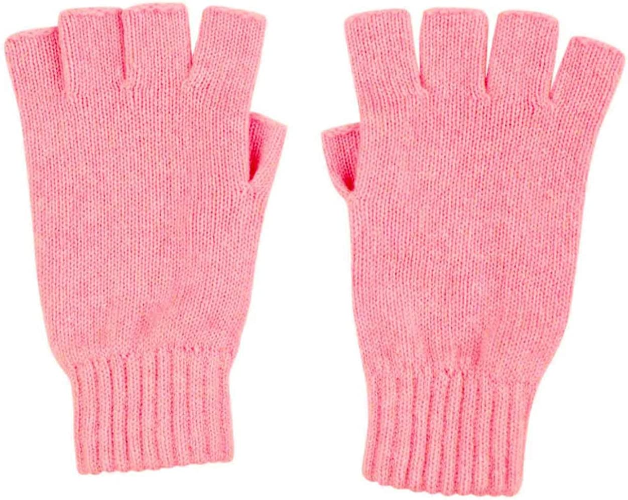Graham Cashmere Women's Unisex Cashmere Fingerless Gloves Gift Boxed One size Pink