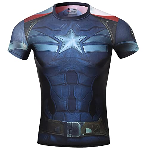 8a5d94f6 Red Plume Men's Compression Sports Fitness Shirt, Armor America Teamleader  T-Shirt