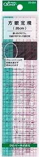 Clover ソーイング用品 方眼定規 20cm 25-054