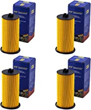FL2016 Oil Filter for Ford F250 F350 350 Excursion E350 Club Wagon E450 Super Duty Engine Oil Filter FL2016 3C3Z6731AA Included O-rings for Housing and Cap (set of 4)