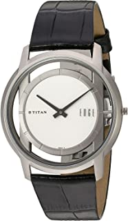 Titan Men's Edge Mineral Quartz Glass Slim Analog Wrist Watch- Ultra Slim with Metal/Leather Strap