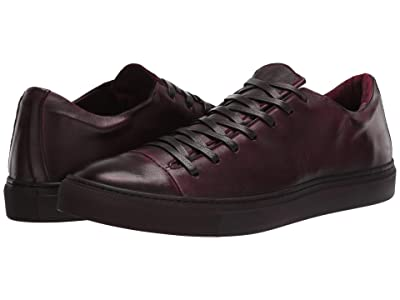 John Varvatos Collection Reed Low Top Sneaker (Bordeaux) Men