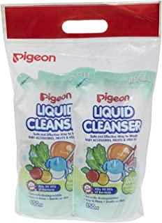 Pigeon Liquid Cleanser Refill, 650ml (Pack of 2)