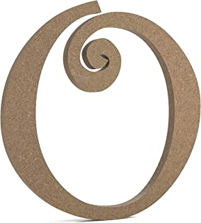 "6"" Curly Wooden Letter O - JoePaul's Crafts Premium MDF Wood Wall Letters (6 inch, O)"