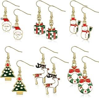 christmas pug earrings
