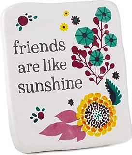 Hallmark Friends are Like Sunshine Ceramic Quote Block, 2.5x3 Plaques & Signs