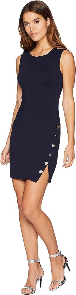 Buttoned Slit Dress