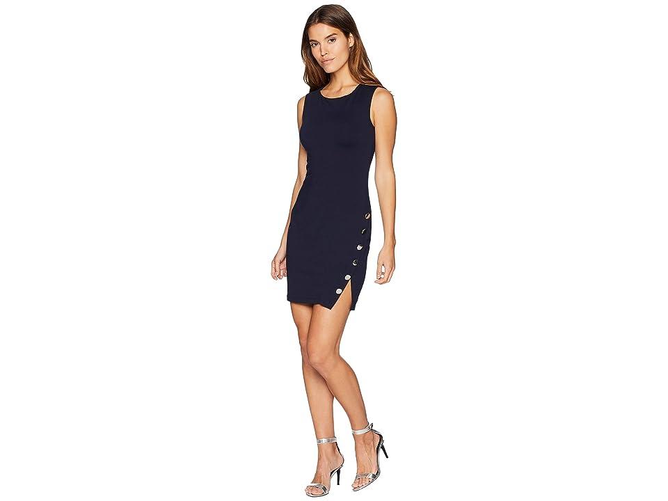 Susana Monaco Buttoned Slit Dress (Midnight) Women