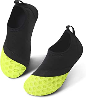 Kids Boys and Girls Summer Athletic Water Shoes Aqua Socks for Beach Swimming Pool