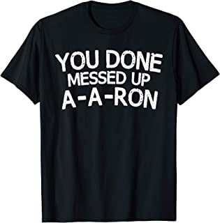 Best aaron t shirt Reviews