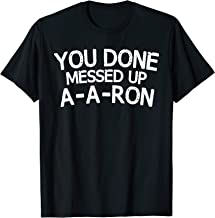 a aron tee shirt