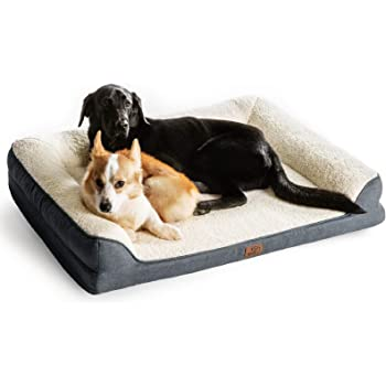 Bedsure Orthopedic Memory Foam Dog Bed - Dog Sofa with Removable Washable Cover & Waterproof Liner, Couch Dog Beds for Small, Medium, Large Pets up to 50/75/100 lbs
