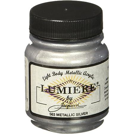 Jacquard Products 2.25 oz Lumiere Metallic Acrylic Paint, Metallic Silver