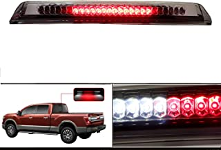 High Mount Stop Cargo Light LED Lamp Third Brake Light Assembly Fits 2004-2015 Nissan Titan / 2005-2016 Nissan Frontier (Clear)