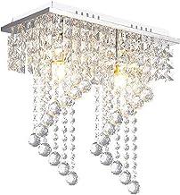 Creatieve Kristallen Kroonluchter, Moderne E14 Kristallen Bol Plafondlamp, 1 Licht Verzonken Montage Verchroomde Plafondla...