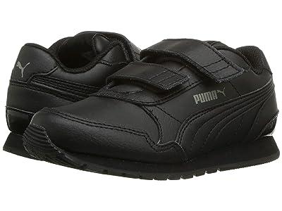 Puma Kids ST Runner v2 L V (Little Kid) (Puma Black/Dark Shadow) Kids Shoes