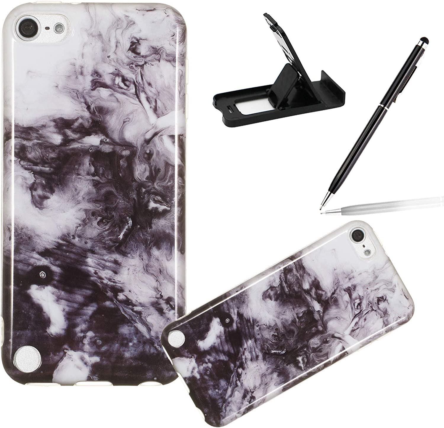 Herzzer Marble Cellphone 40% Regular store OFF Cheap Sale Case for iPod 7 Women Touch 6 5 Stylish