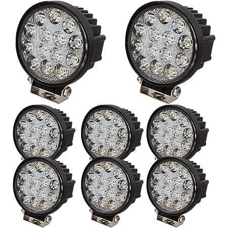 Brightum Led Spot Für Bauarbeiten Den Außenbereich Lkws Flutlicht Rund 12 V 24 V Schwarz 42 00w 24 00v Auto