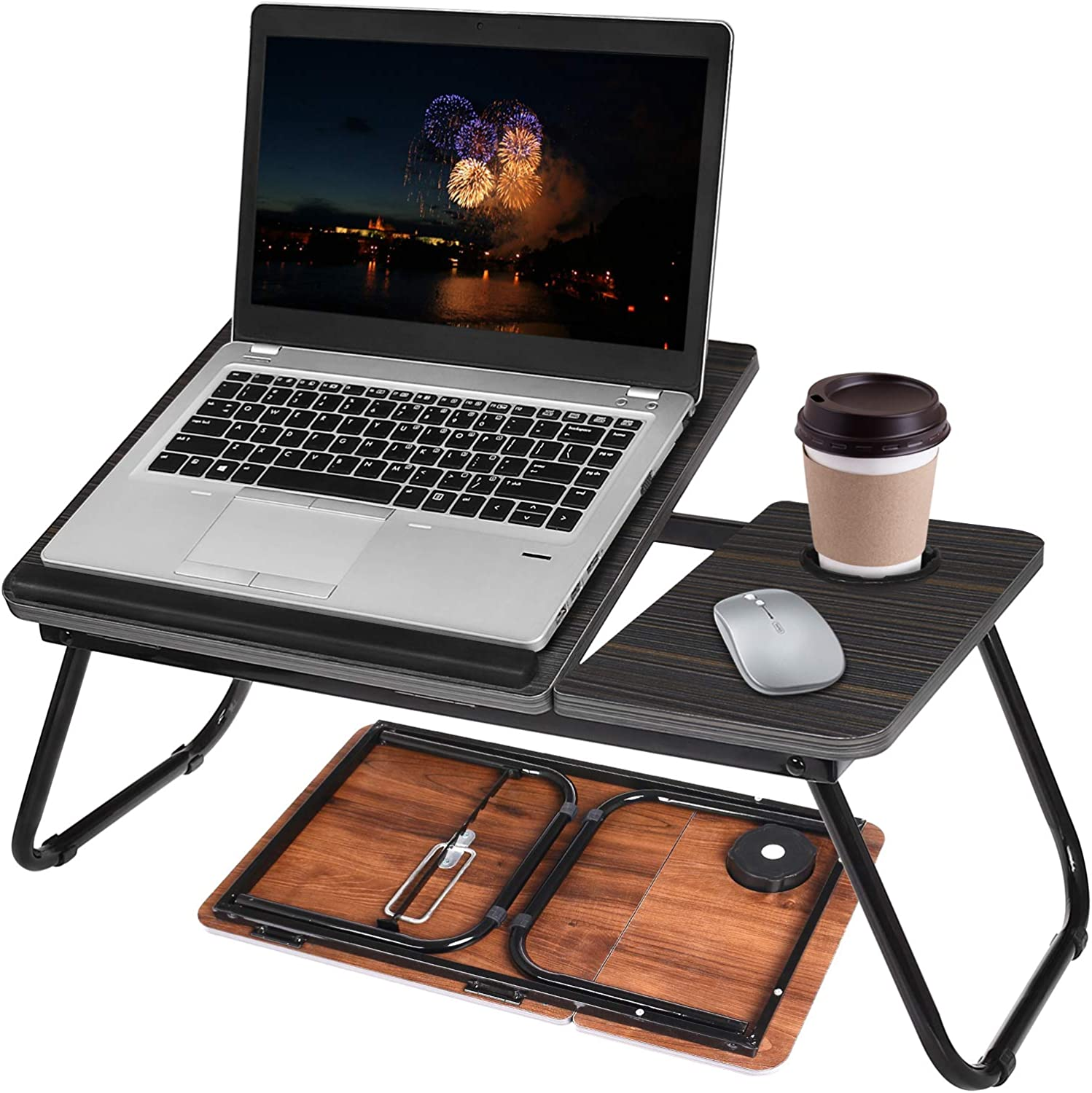 Lap Desk for Bed Adjustable Laptop Table Popular overseas Holde Cup Tray with shipfree