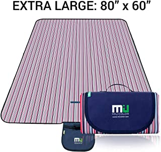 MIU COLOR Large Waterproof Outdoor Picnic Blanket, Sandproof and Waterproof Picnic..