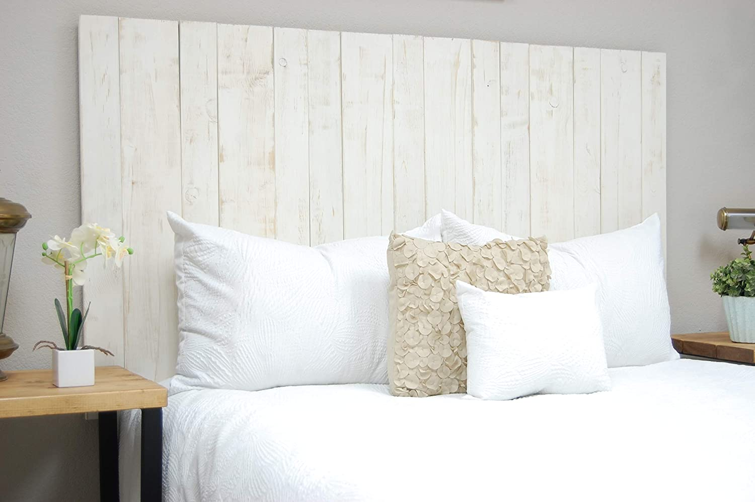 Whitewash Sales for sale Headboard California King Weathered Size Complete Free Shipping Hanger Style