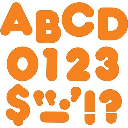 "TREND enterprises, Inc. Orange 4"" Casual Uppercase Ready Letters"