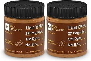 RX Nut Butter, Chocolate Peanut Butter, 10oz Jar, Pack of 2, Keto Snack, Gluten Free