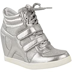 46971d046fa5 Fashion Thirsty Womens Hi Top Wedge Sneakers Trainers Sport A ..