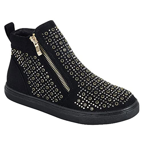 16c3e4dfa79 Easter Special Sale Kate Glittery Studded High Top Sneaker for Women Teen  Girls (Assorted Colors