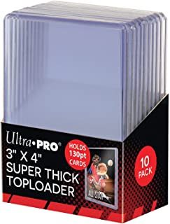 Ultra Pro 82327 3 x 4 inch Toploaders Super Thick (10 Count), Clear