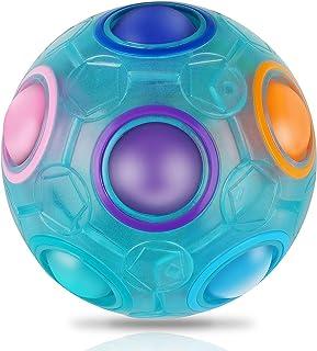 Coolzon Balle magique arc-en-ciel lumineuse - Jouet éducatif pour enfants et adultes - Bleu