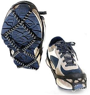 Fengzio Glace Traction Crampons Antid/érapant sur Chaussures//Bottes 10 Clous /à Neige Grips Crampons Crampons Pointes