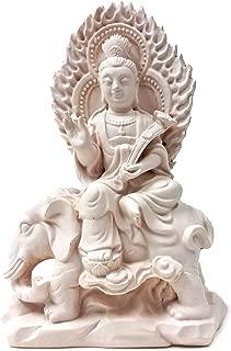 Bellaa 24221 Buddha Statue Elephant Samantabhadra Compassion Wisdom 5 Inch