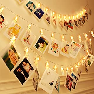 Photo Clip String Lights Upgraded with Remote   Decorative Picture Hanging Lights for Bedroom   Battery Powered, 40 LED, W...