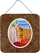 Caroline's Treasures 7027DS66 Helping Himself Fawn Pug Wall or Door Hanging Prints 7027DS66,Multicolor,6HX6W