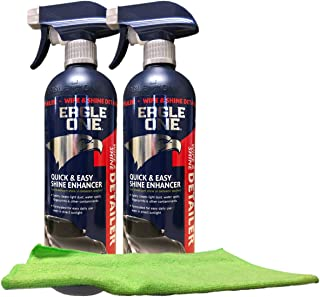 Eagle One Wipe & Shine Detailer Spray (23 oz) Bundle with Microfiber Cloth (3 Items)