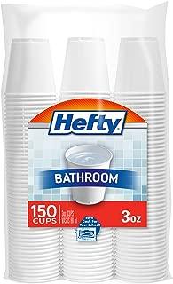 Hefty White Plastic Bathroom Cups - 3 Ounce, 150 Count