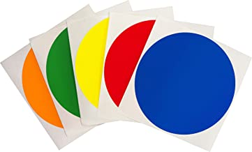 ChromaLabel 4 Inch Color Code Dot Labels on Sheets, 5 Assorted Colors, 100 Variety Pack, Standard, Blank, Permanent, Semi-Gloss
