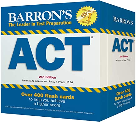 Barron's ACT Flash Cards: 410 Flash Cards to Help You Achieve a Higher Score (Barron's Test Prep)