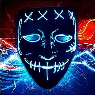 Halloween Scary Purge Costume Mask - Light Up LED Cosplay Creepy Masks - Halloween Masks - Purge Masks - Costume Masks