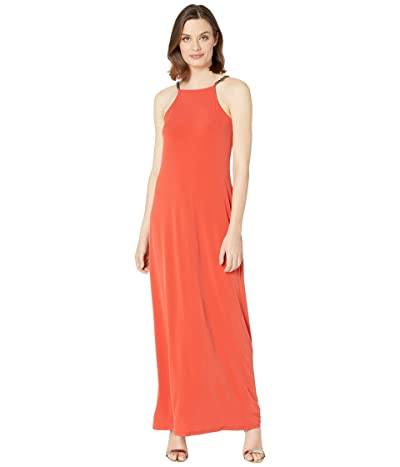 MICHAEL Michael Kors Chain Maxi Dress (Dark Persimmon) Women