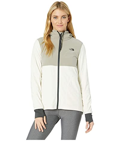The North Face Mountain Sweatshirt Full Zip (Silt Grey/Vintage White) Women
