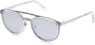 نظارات شمسية للجنسين من ديزل DL029320C53 - رمادي/ رمادي داكن معدني عاكس